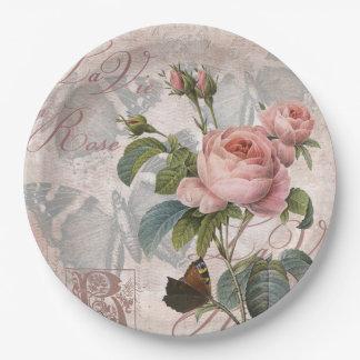 El La compite en rose.jpg Platos De Papel