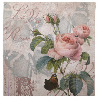 El La compite en rose.jpg Servilleta Imprimida