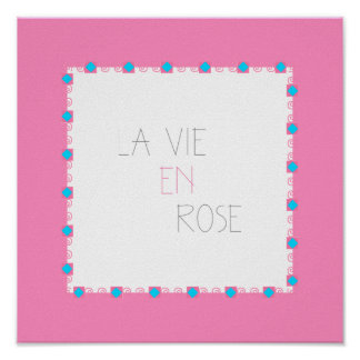 El La compite - vida en rosa - francés subió En Póster