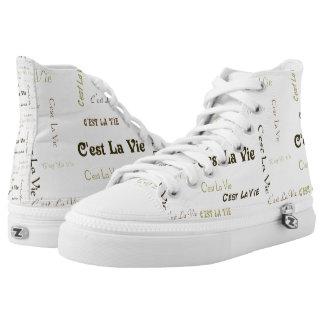 El la de C'est compite hola los zapatos impresos