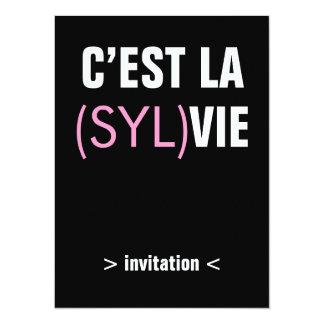 El la de C'est (Syl) compite - el la de C'est Invitación 13,9 X 19,0 Cm