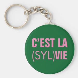 El la de C'est (Syl) compite - el la de C'est Llavero Redondo Tipo Chapa
