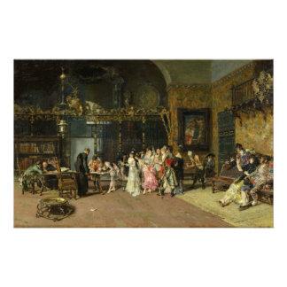 El La español Vicaría del boda de Mariano Fortuny Papeleria