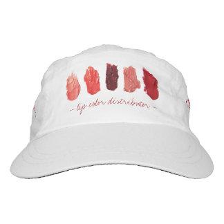El labio rojo de las muestras del lápiz labial gorra de alto rendimiento