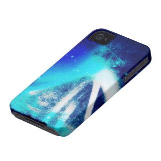El lado azul del caso del espacio iPhone 4 Case-Mate coberturas