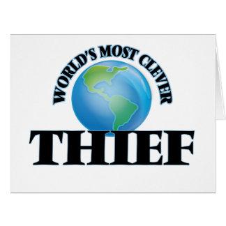 El ladrón más listo del mundo tarjeta de felicitación grande