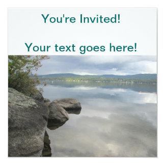 El lago oscila la foto invitación 13,3 cm x 13,3cm