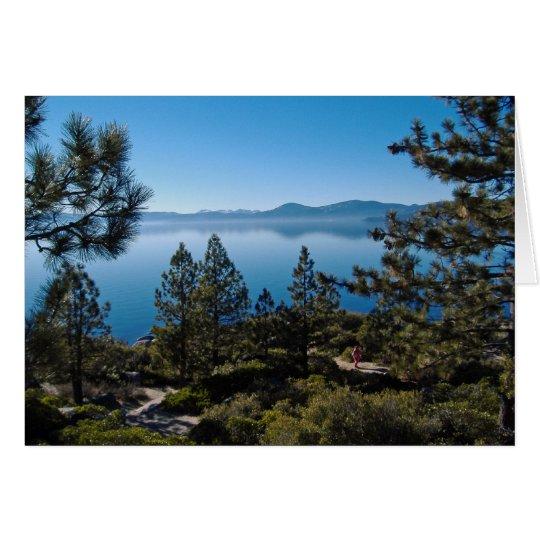 El lago Tahoe Tarjeta De Felicitación