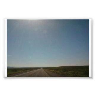 El largo, camino de la No-Bobina Fotografia