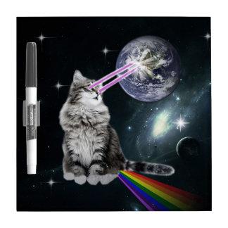 El laser de Bioworld observa el gato del espacio Pizarras