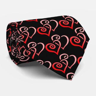 El lazo de Swirly de los hombres rojos dobles de Corbatas