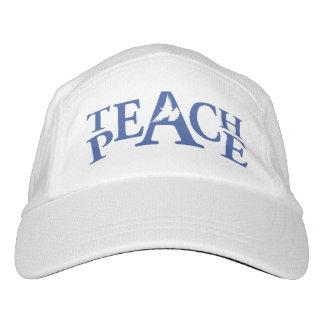El lema enseña paz al gorra blanco de la paloma gorra de alto rendimiento