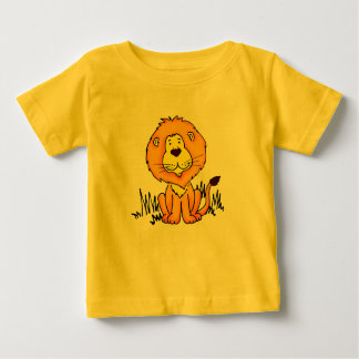 El león animal lindo embroma la camiseta