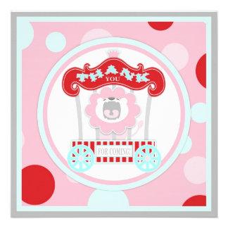 El león del rugido del circo le agradece rosado comunicado personalizado