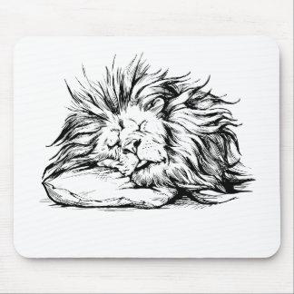 el León-dormir Alfombrilla De Ratón