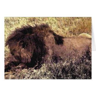 El león grande tarjeta de felicitación