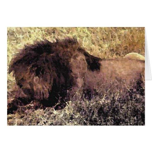 El león grande tarjeton