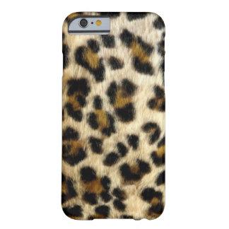 El leopardo negro elegante mancha la caja del funda barely there iPhone 6