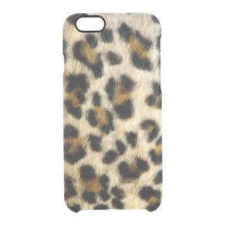 El leopardo negro enrrollado mancha iPhone Funda Transparente Para iPhone 6/6s