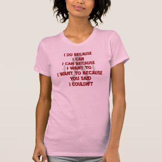 El levantamiento de pesas I hace porque usted dijo Camisas