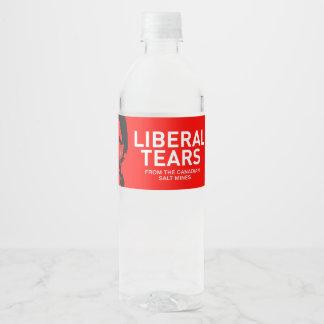 El liberal de la etiqueta de la botella de agua