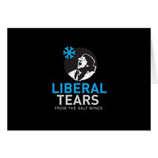 El liberal rasga la tarjeta de felicitación