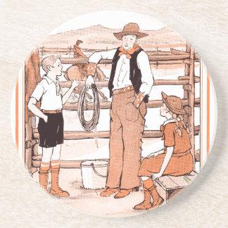 El libro de niño del vintage - hablando con el posavasos de arenisca