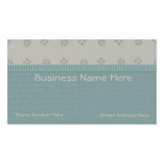El libro de recuerdos del verde azul texturiza la plantilla de tarjeta de negocio
