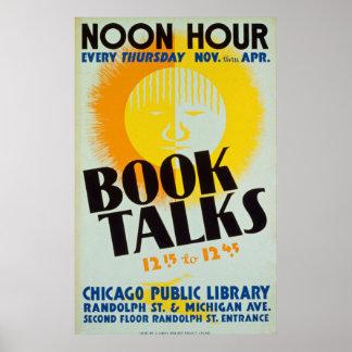 El libro del vintage habla el poster póster