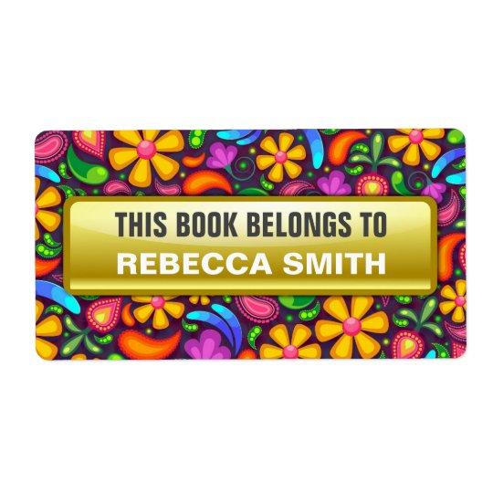 El libro personalizado etiqueta el | etiqueta