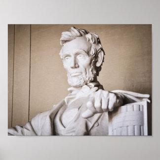 El Lincoln memorial en Washington DC Póster