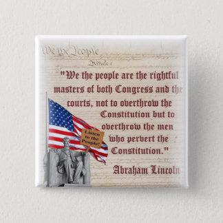 ¡El Lincoln memorial - escuche la gente! Chapa Cuadrada