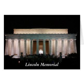El Lincoln memorial Tarjeta