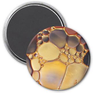 El líquido abstracto fresco burbujea imán