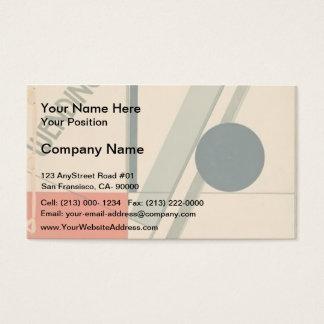 EL Lissitzky- Wendingen Tarjeta De Negocios