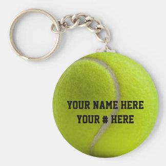 El llavero de la pelota de tenis personaliza SU