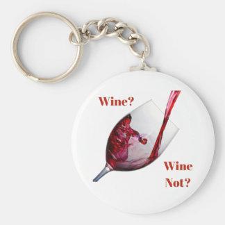 ¿El llavero del amante del vino - vino? ¿Vino no?