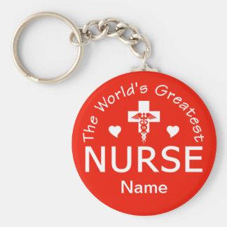 ¡El llavero más grande de la enfermera - personali