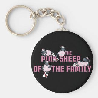 El llavero rosado de Blck de las ovejas