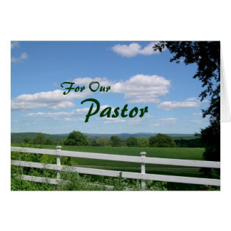 El llevar mucho tarjeta del aprecio del pastor