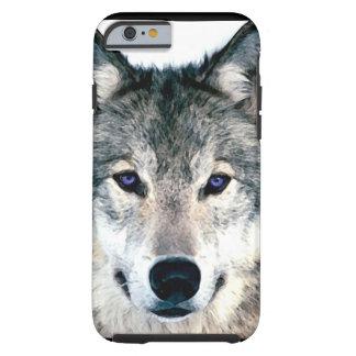 El lobo observa en animal salvaje de la naturaleza funda de iPhone 6 tough