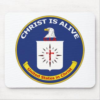 """El logotipo Cia """"Cristo está vivo """" Tapetes De Raton"""