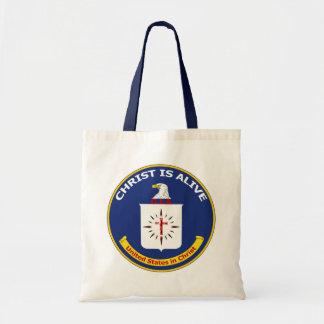 """El logotipo Cia """"Cristo está vivo """" Bolsa De Mano"""