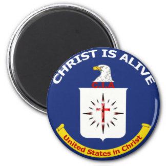 """El logotipo Cia """"Cristo está vivo """" Imán Redondo 5 Cm"""