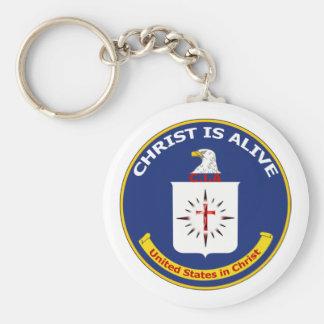 """El logotipo Cia """"Cristo está vivo """" Llaveros Personalizados"""