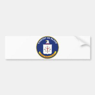 "El logotipo Cia ""Cristo está vivo "" Pegatina De Parachoque"