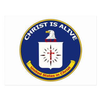"El logotipo Cia ""Cristo está vivo "" Postal"