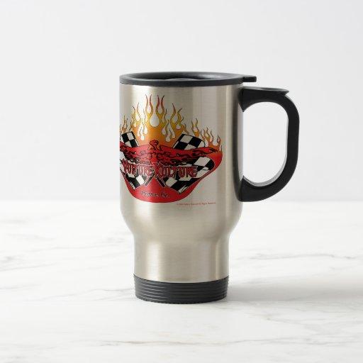 El logotipo de Kulture del buitre con las llamas y Tazas