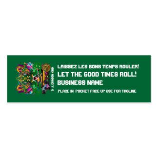 El logotipo del carnaval ve por favor notas tarjetas de visita mini