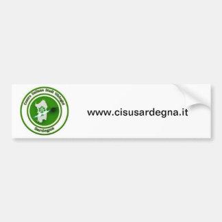 Él logotipo del CISU CERDEÑA Etiqueta De Parachoque